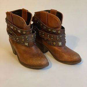 Corral Leather Distressed Ankle Boots, Booties